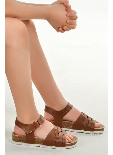 Vicco Vicco 321.20Y.350 Günlük Kız/Erkek Çocuk Sandalet Terlik Kahve
